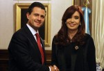 Enrique Peña Nieto y Cristina Fernández de Kirchner
