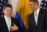 Juan Manuel Santos y Barack Obama