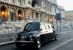 Subastan esta peculiar limusina Fiat 500